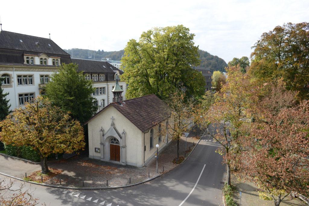 Parkkapelle an der Römerstrasse, vis-à-vis Kurtheater in Baden